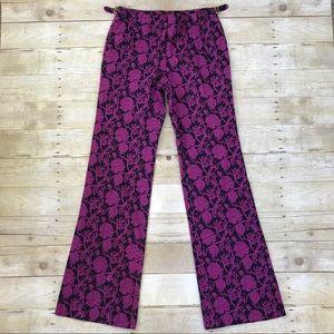💜Fab Tory Burch purple and navy wide leg pants